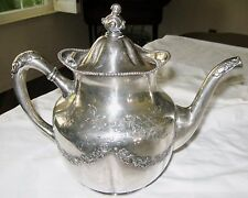 Pairpoint Antique Silverplate Teapot Silver Repousse Garland Beading Chased