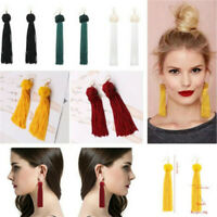 1 Pair Vintage Women Boho Long Tassel Earring Long Dangle Thread Tassle Earrings