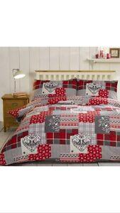 Alpine Patchwork 100% Brush Cotton Flannelette Duvet Set King Cheapest On Ebay