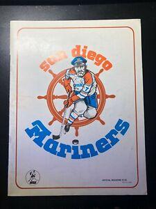 1974/1975 WHA Hockey Program San Diego Mariners vs Cleveland Crusaders