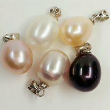 Natural freshwater pearl pendant with necklace 10mm