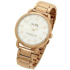 [Original] Coach Delancey Silver Dial Rose Gold-Tone Women Lady Watch