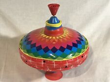 Vintage Large Tin Toy Spinning Top...LOOK!!!!!!!