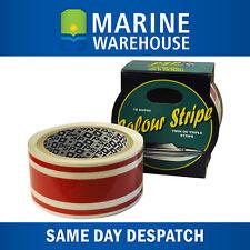 Red Triple Pinstripe Vinyl Decorative Boat Tape - PSP Marine 44mm X 10m 401959