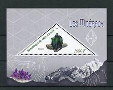 COSTA D'AVORIO 2016 Gomma integra, non linguellato minerali 1v S/S VIVIANITE FRANCOBOLLI