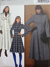 OOP BUTTERICK B5425 MISSES' WINTER LONG FLARED COAT SEWING PATTERN SIZE 6-12 NEW