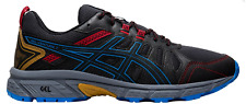 Fast shipping ASICS Men's GEL-Venture 7 Trail Running Shoes Black/Blue/Red NEW !
