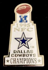 Vintage 1995 Dallas Cowboys NFC Champions NFL Enamel Lapel Pin