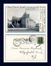 NEW JERSEY HASBROUCK HEIGHTS POSTED 1905 TO FANNIE FISBECK OF RIDGEFIELD PARK
