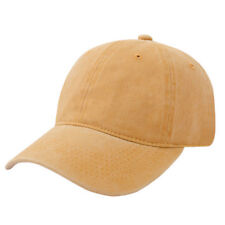 Baseball Cap Snapback Mens Plain Washed Cap Classic Adjustable Blank Solid Hat