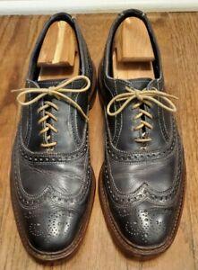 Allen Edmonds Neumok 4065 Navy Blue Leather Wingtip Oxford Brogue Mens Size 13 D