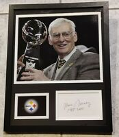 DAN ROONEY AUTHENTIC Signed Autographed STEELERS NFL FRAMED 11X14 PHOTO JSA PSA