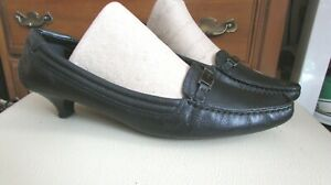 Women's PRADA Leather Kitten Heel Shoes Size 36.5 Italy