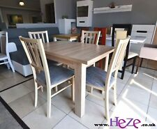 SET of extending dining table and 4 wooden chairs, strong&solid, oak sonoma MarP