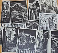 MERYL WATTS Art Postcards Black & White Series Lot 1