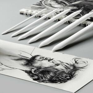 6Pcs Sketch Tortillon Blending Smudge Stump Pen Sketch Art Craft Drawing Tools