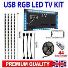 5V LED Strip Light USB Powered RGB Multi Color TV Backlight Lighting With Remote