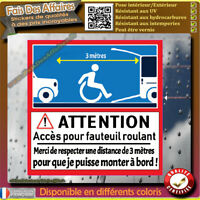 Stickers Autocollant handicapé place fauteuil roulant decal chaise roulante