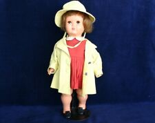 """VINTAGE 1940's CELLULOID GeGe DOLL, CORINNE, 16"""" FROM FRANCE"""