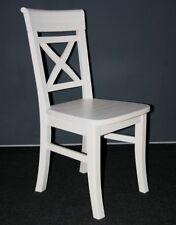 Esszimmer Stuhl Küchen Stühle weiß Holz Kiefer massiv lasiert Landhas Stil