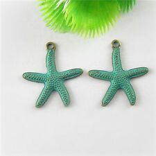20pcs Antiqued Bronze Alloy Starfish Look Pendant Charms Jewelry Accessory Craft
