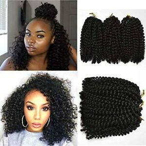 """3pcs/Pack 8"""" Short Marlybob Afro Kinky Curly Crochet Synthetic Hair Twist Braids"""