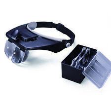 Headband Magnifier Visor Glasses LED Light 4 Lens