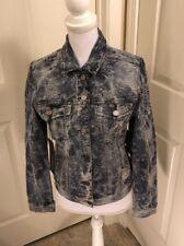Liverpool Jeans Co. Stretch Lace Jacquard Denim Jacket S New $98