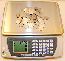 DIGITAL COUNTING PARTS COIN SCALE 110 x .005 LB 50 KG x 2 GRAM INVENTORY PAPER