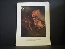 Maxfield Parrish original book plate from 1921 The Arabian Nights vintage ed. NR