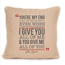 John Legend All Of Me Loves All Of You Song Lyrics Cushion With Pad Design 2