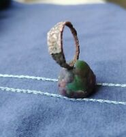 Women's Ring  Copper Antiques Collection Picture Roman Epoch