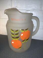 New listing Vintage Wildwood Nj Souvenir Frosted Juice Pitcher W Oranges 1950-60'S