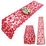 Heart Pattern Banner Table Cloth Table Runner Valentine's Day Wedding Table Flag