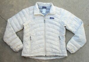 Patagonia Down Sweater Jacket Women's size S White Full zip