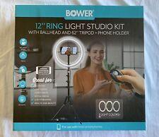 Bower 12 Ring LED Light Studio Kit Selfie Light Brand New
