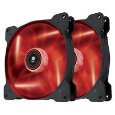 Corsair Air Series SP120 RED LED High Static Pressure Fan Dual Pack 120mm
