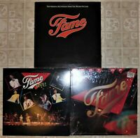 Fame, 3 Vinyl Record Lot, All LP, All US 1st Press, Soundtrack Live! Best Of