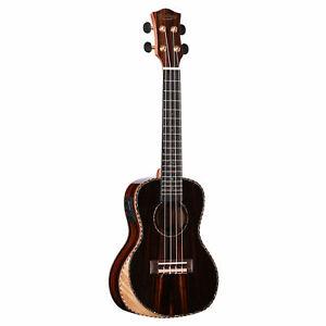 Muzikkon Heartland Tenor Ukulele Ebony with EQ (Bag Included) Musical Instrument