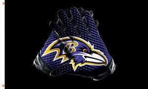 Baltimore Ravens Gloves Memorable flag 90x150cm 3x5ft best team banner
