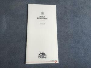 British Airways Concorde Inflight  Entertainment Guide November 1988