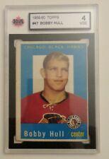 1959-60 BOBBY HULL #47 TOPPS 2ND YEAR CARD  KSA 4 VGE