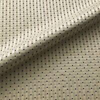 "Ivory Dobby Dot Silk Stripe Upholstery Fabric by the Yard - 54"""