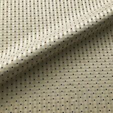 Ivory Dobby Dot Silk Stripe Upholstery Fabric by the Yard - 54""