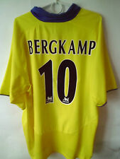 RARE!!! BERGKAMP!!! 2003-05 Arsenal Away Shirt Jersey Trikot XL