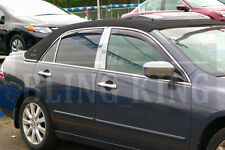 08-2012 Honda Accord chrome pillar post trim stainless steel 6pc