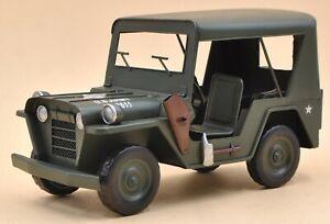 Retro iron Jeep Model for Shop Decoration for Fancy Shop, Handmade Craft Figure