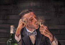 """Arthur Shelby patraque oeillères Wall Art Toile 22"""" x 14"""" Solide Cadre peinture à l'huile"""