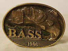 Vintage 1986 Bass Member Belt Buckle - The Great American Buckle Co