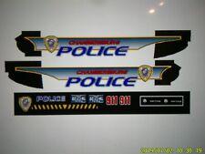 Chambersburg Pennsylvania Police Patrol Vehicle Decals 1:24